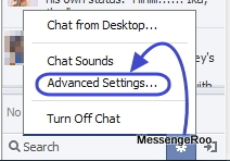 Navigation to Advanced Chat Settings on Facebook