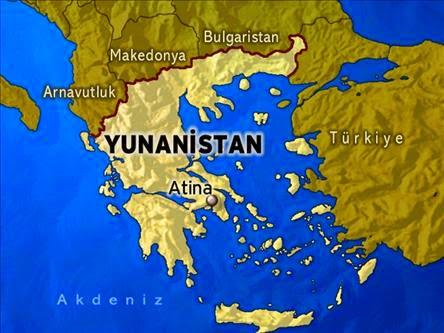 Haritada Komşumuz Yunanistan