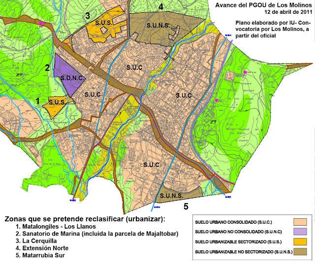 Convocatoria por los molinos el alcalde presenta el for Suelo no consolidado