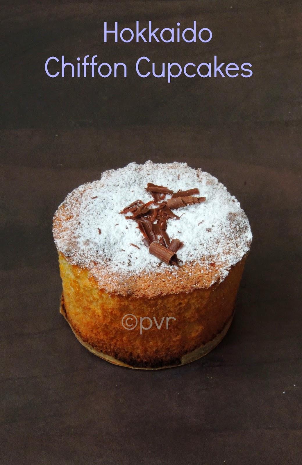 Chiffon cupcakes, Hokkaido chiffon cupcakes