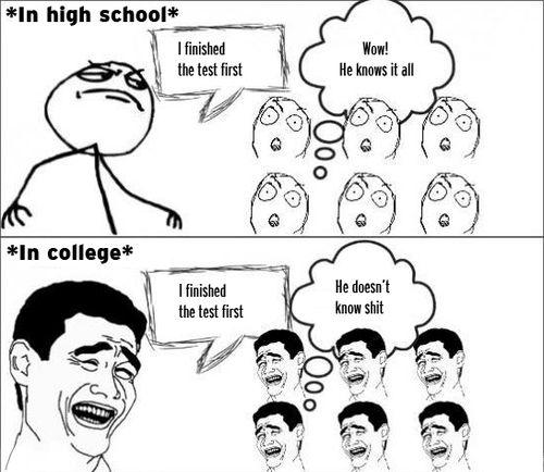 high school vs college