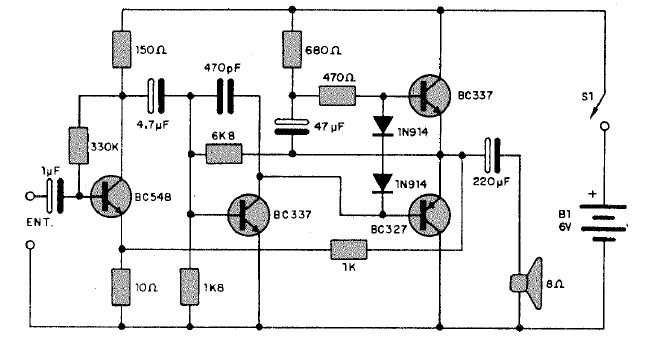 Circuito Amplificador : Electronica circuitos diagramas circuito amplificador