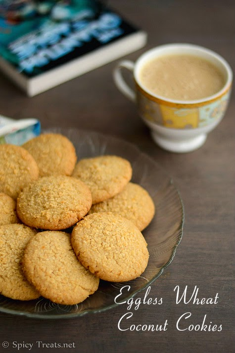 Eggless Wheat Coconut Cookies