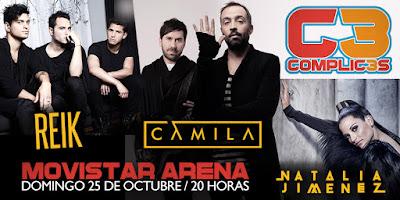 COmplic3s en Chile  2015 : Reik  Camila entradas baratas primera fila no agotadas Puntoticket