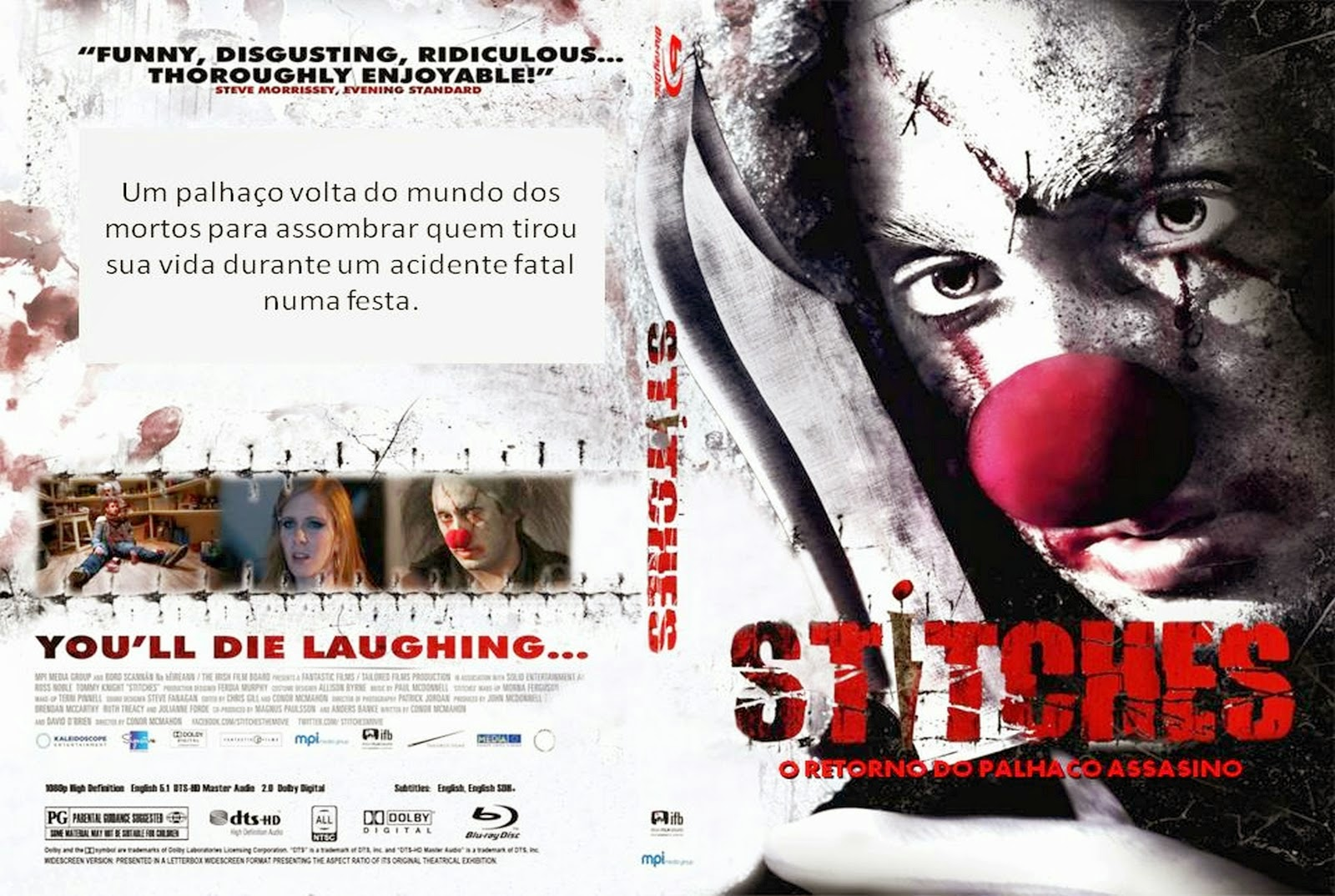 Stitches - O Retorno do Palhaço Assassino DVD Capa