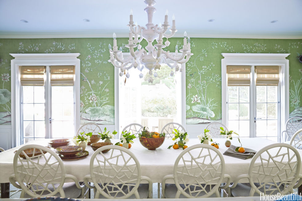 Chinoiserie chic the chinoiserie dining room for Homes with beautiful dining rooms