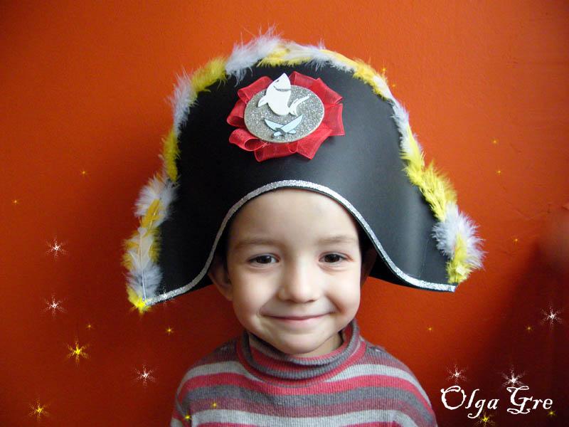 Шляпа пирата из картона своими руками