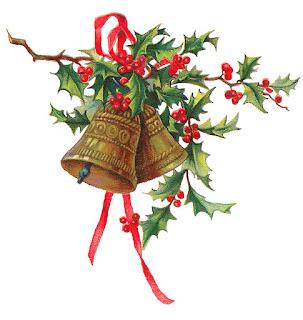 christmas holly bells clip art