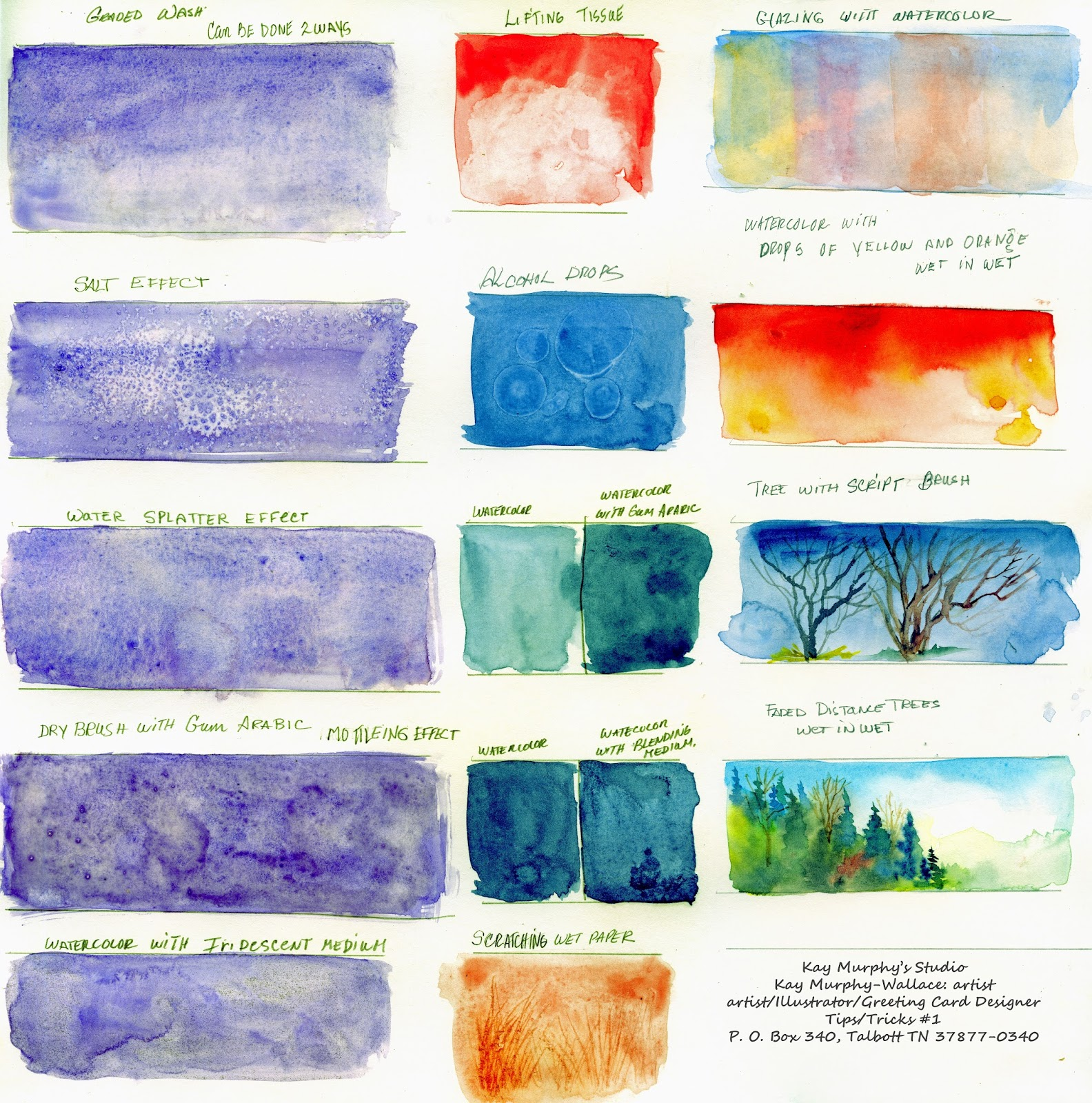 Kay murphy 39 s studio kay murphy wallace artist watercolor for Watercolour tips and tricks