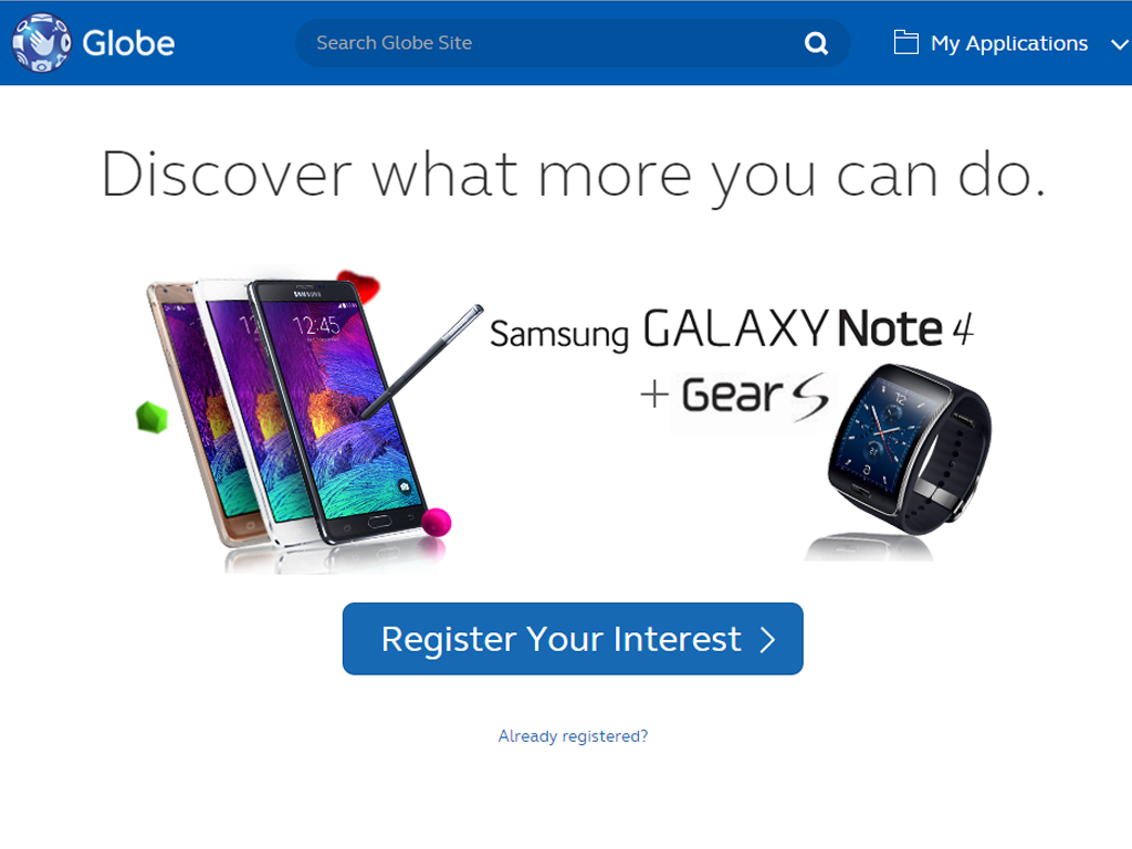 Globe is Now Accepting Pre-orders for Samsung Galaxy Note 4 and Gear S SmartWatch