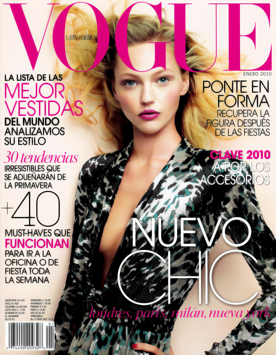 Fashion week Pivovarova sasha covers paris vogue october for woman