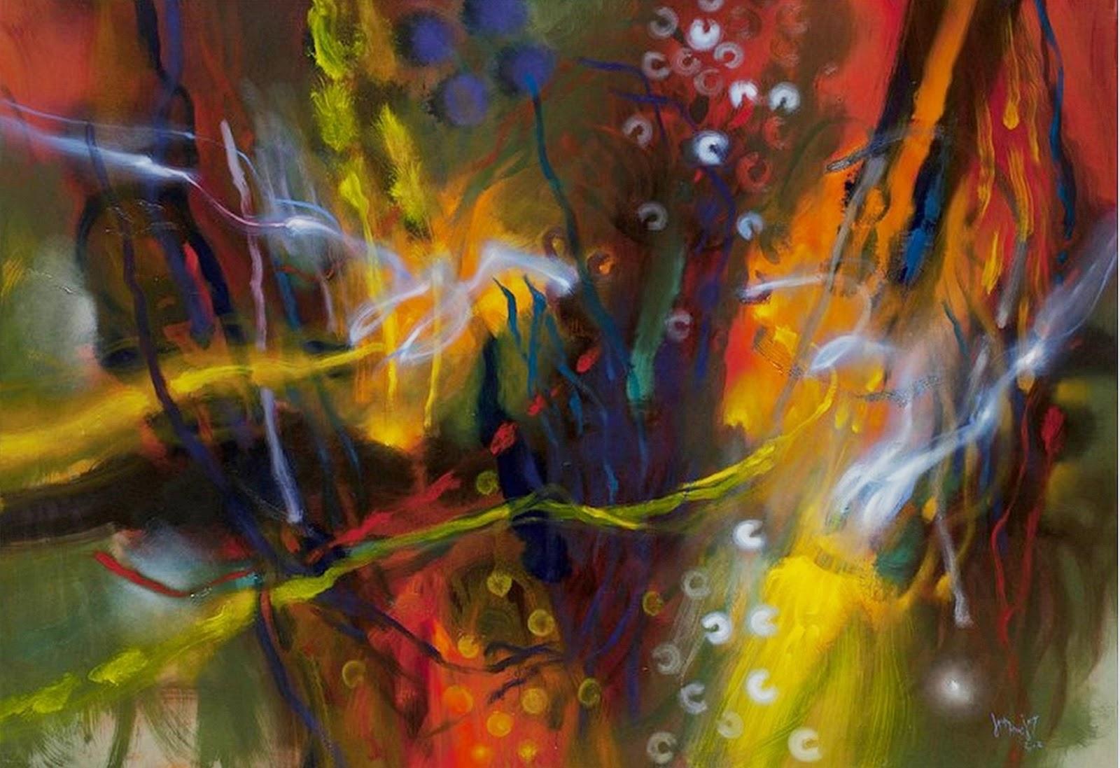 Cuadros pinturas oleos pintura leo moderna - Cuadros pintura acrilica moderna ...