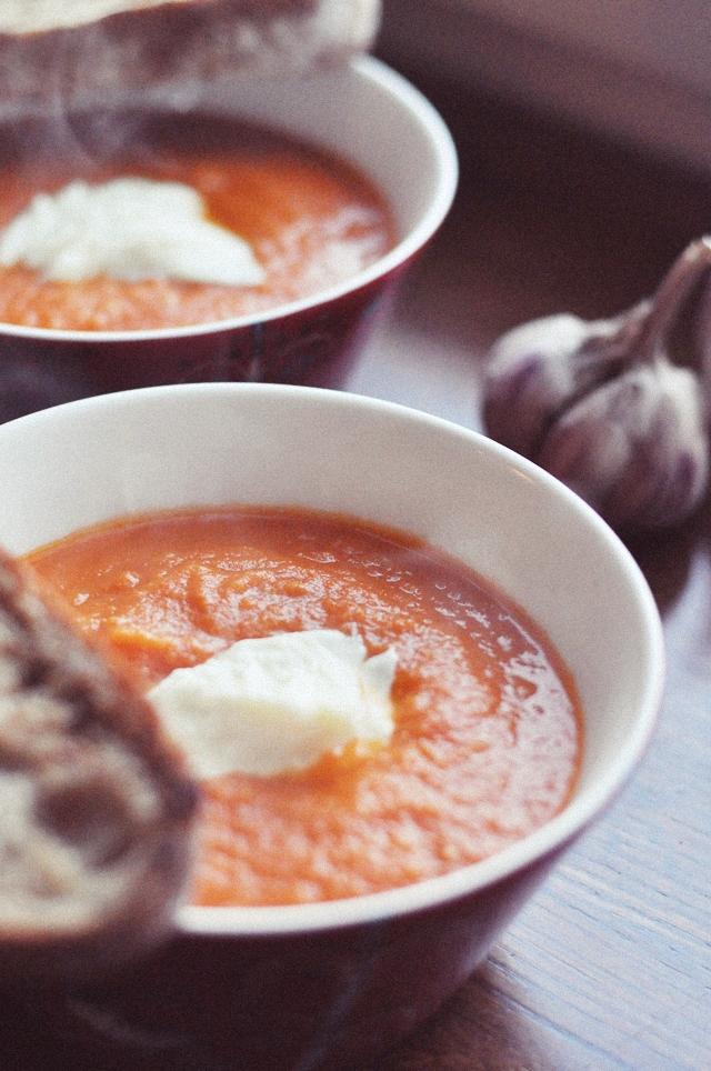 Tomātu Krēmzupa ar Mozarellu // Cream Tomato Soup with Mozzarella