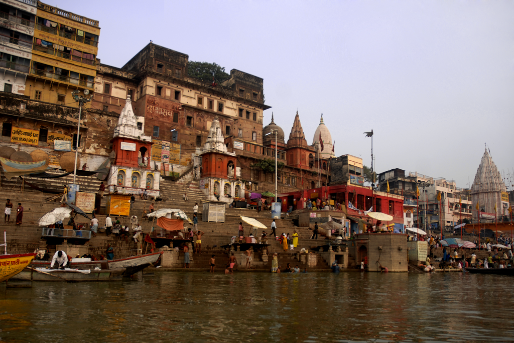 This is an India photo of people in Varanasi in Uttar Pradesh.