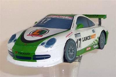 Supercar Porsche 996 Papercraft