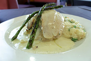 Crab-stuffed Fluke with Asparagus Risotto