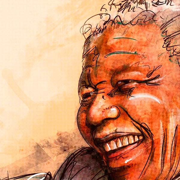 Retrato. Nelson Mandela para Huella Social (El Tiempo)