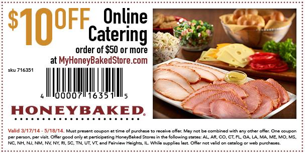 Honey baked ham discount coupon code