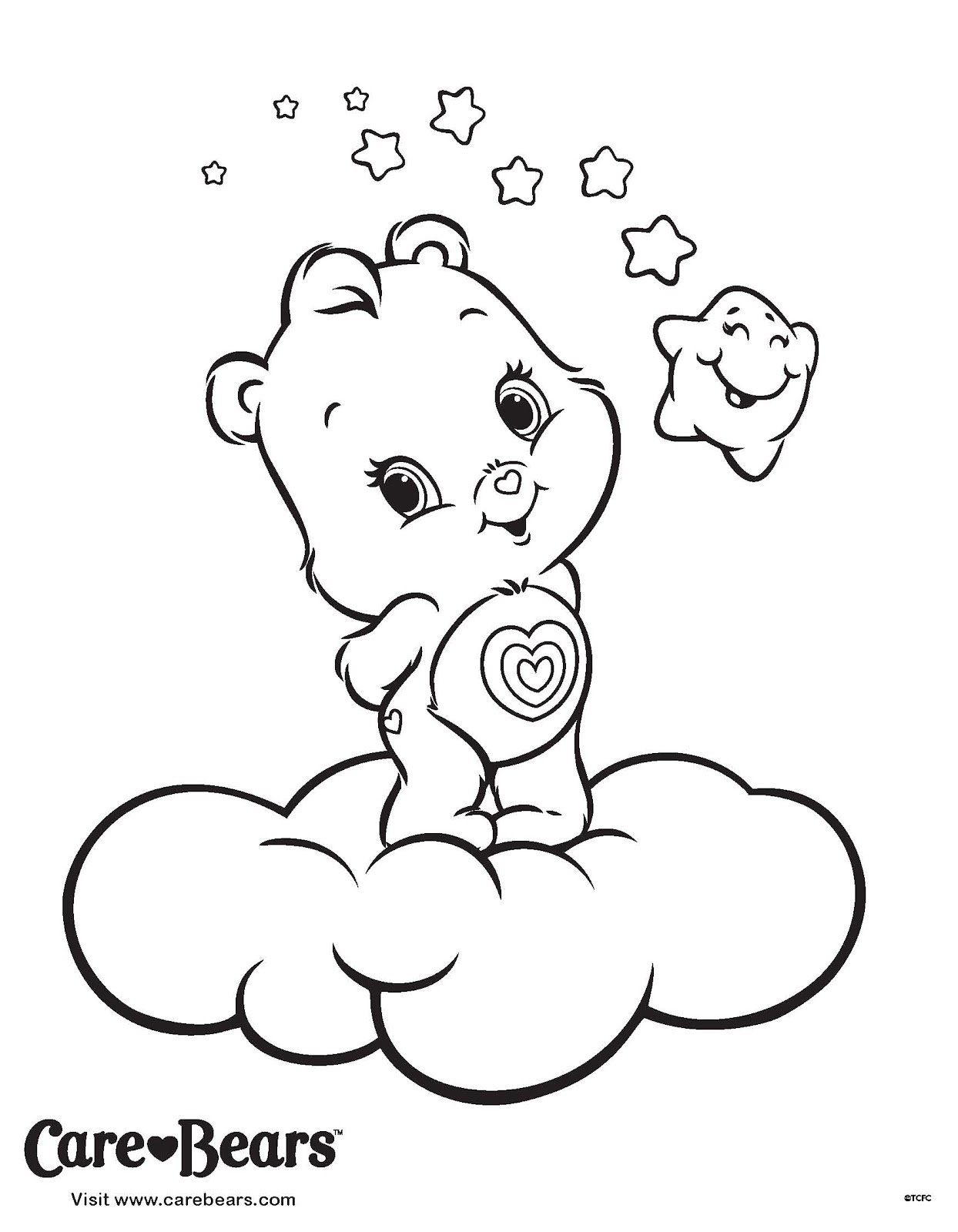 Care Bear Coloring Pages Free Printable Pictures Caring Coloring Pages