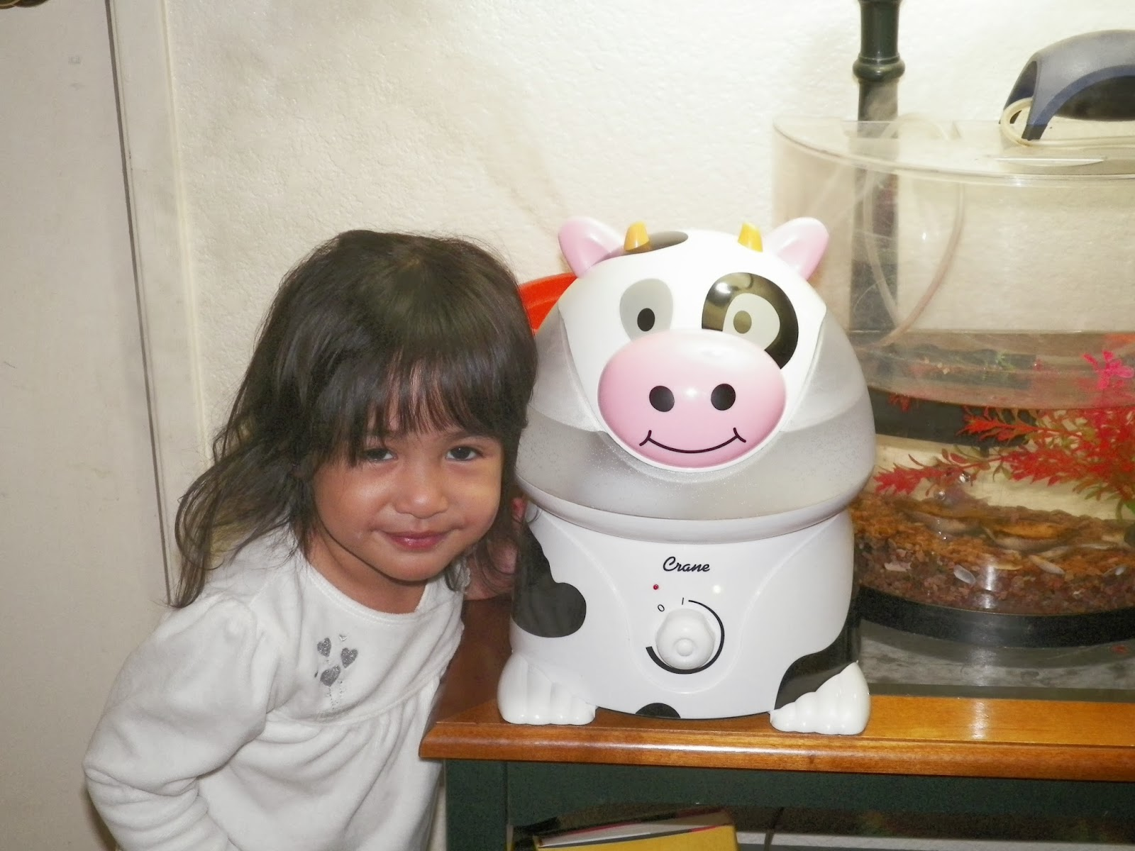 year old daughter (almost 3! :)) even posed beside the humidifier #854659