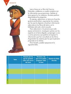 Apoyo Primaria Español 4to Bloque III lección 7 Realizar una entrevista para ampliar información