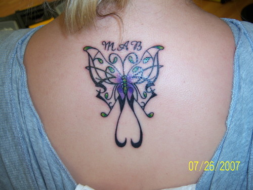 Upper Back Tattoo For Girls