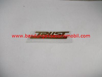 Emblem Alumunium Kecil Gold Trust