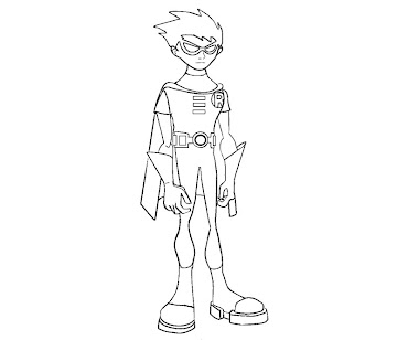 #9 Robin Coloring Page