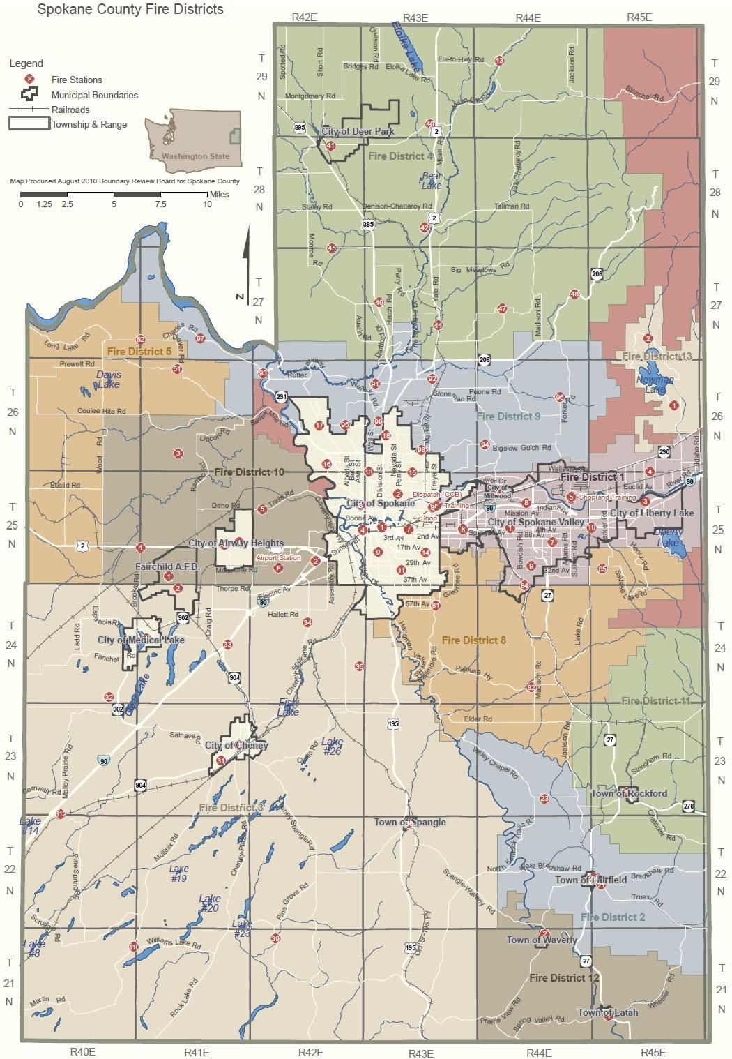 Spokane County Fire News Blog Fire Station Map