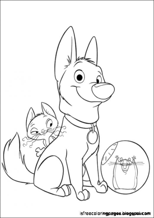bolt coloring pages for kids - photo#36