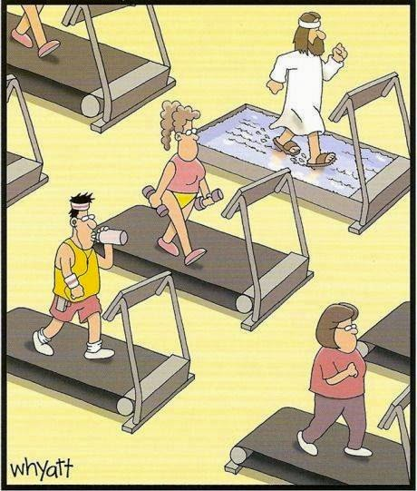 Image: Jesus on the treadmill