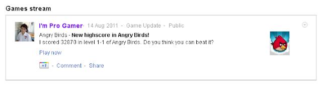 Google+ game high score