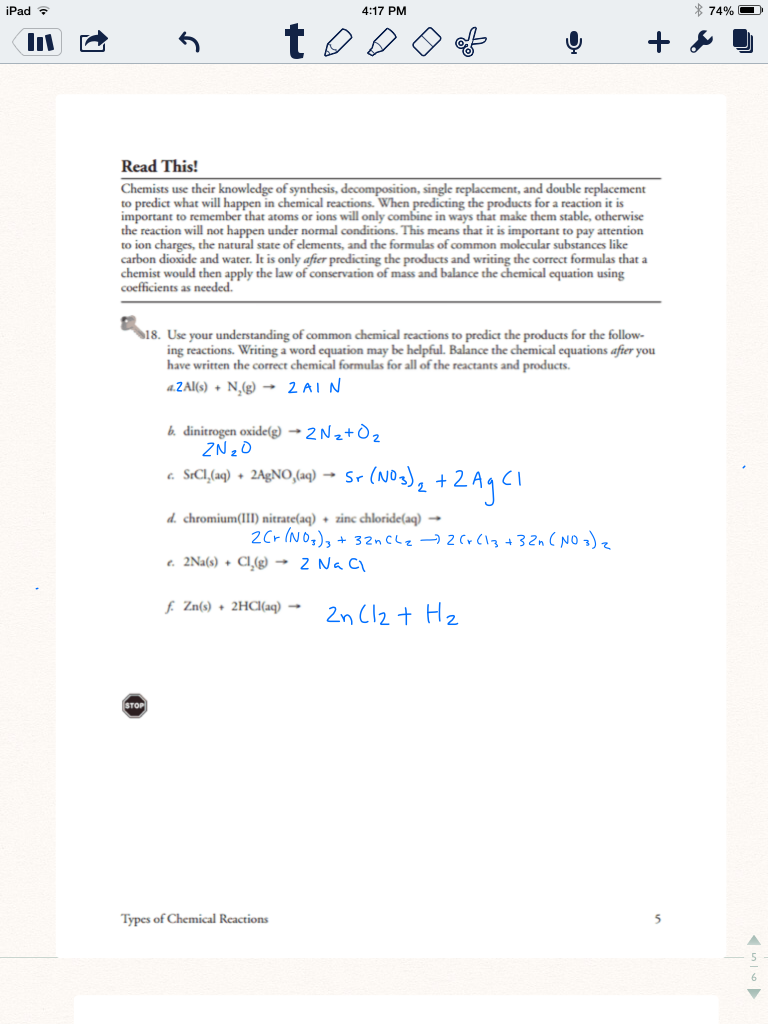 All Grade Worksheets Types Of Reactions Worksheet All Grade – Types of Reactions Worksheet
