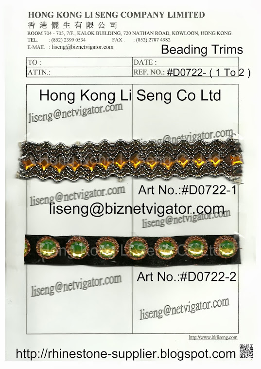 Beading Trims Manufacturer Wholesale and Supplier - Hong Kong Li Seng Co Ltd