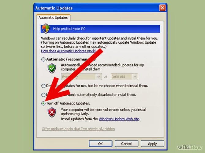 Desativar atualizações automáticas - Fonte/Reprodução: http://www.wikihow.com/Solve-the-Svchost.Exe-100%25-CPU-Utilization-Problem