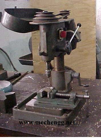 Diagram Of Table top small sensitive drilling machine