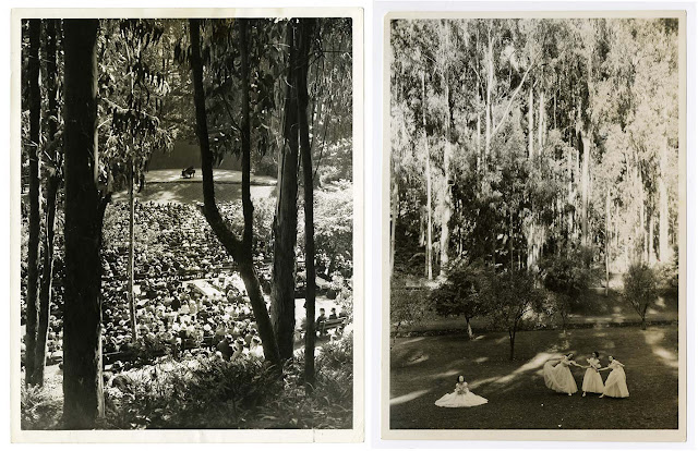 (Left) Stern Grove Concert, 1939; (right) Ballet at Stern Grove, c. 1940s California Historical Society, CHS2012.946, CHS2015.2026