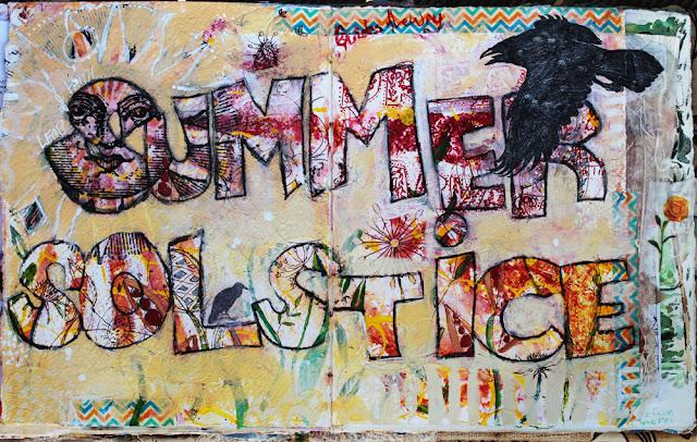 Summer Solstice Art Journal Page Galia Alena