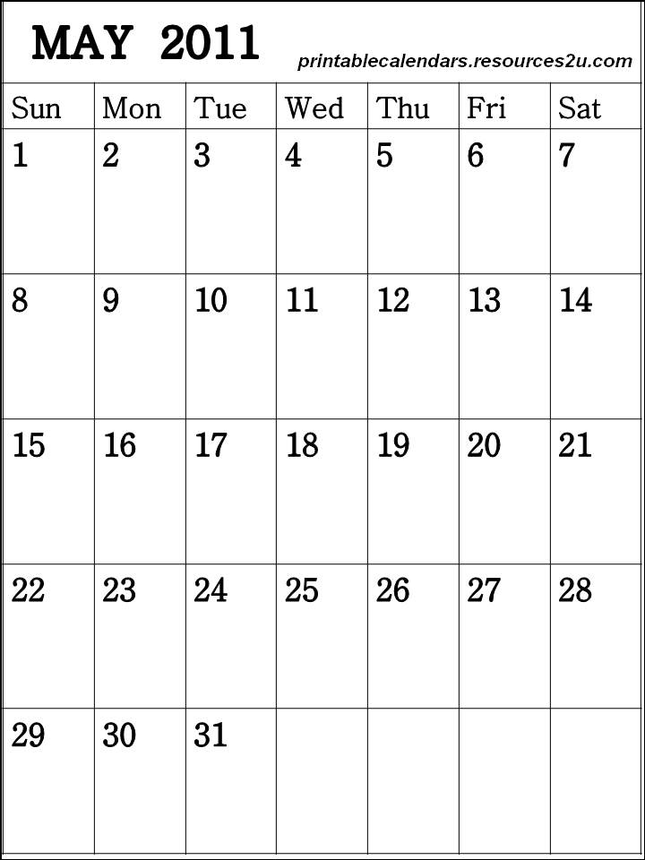 ... 57kB, Free 2015 Calendars Printable: Vertical Blank Calendar May 2011