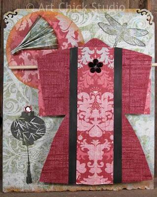 Fan and Kimono Paper Arts