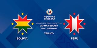 Ver Bolivia vs Perú en vivo | 25 junio del 2015 | Cuartos de Final | Copa América Online