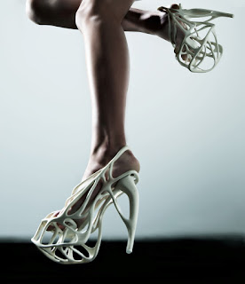 3D printed shoes from Naim Josefi's Collection Melonia