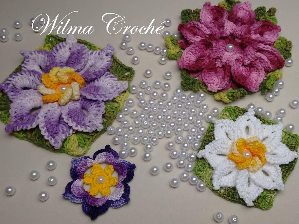 Adesivo De Alto Desempenho Para Argamassas ~ Wilma Croch u00ea Como Aplicar Pérolas em Flores de Croch u00ea