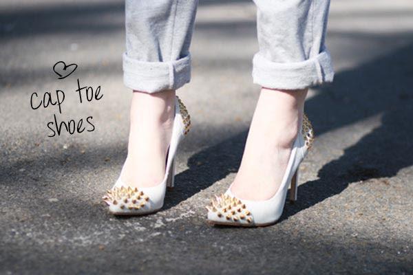 cap toe shoes