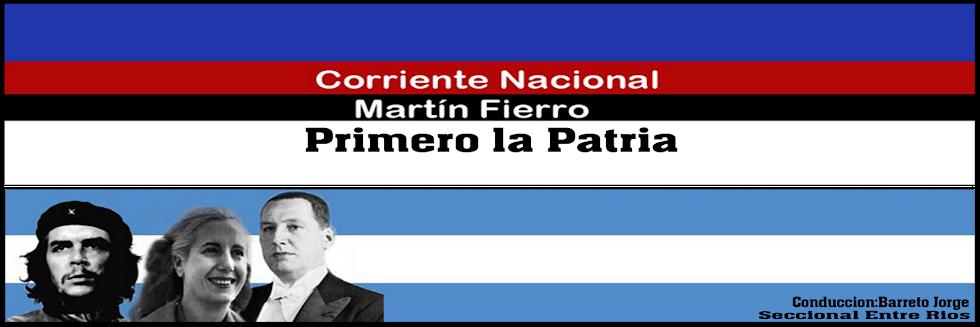 "Corriente Nacional    ""Martin Fierro"""