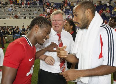 Evra Ferguson Henry Man Utd Tour USA