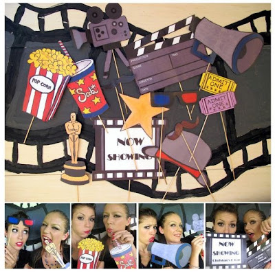 Wedding movie photo booth props