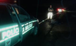 Idoso atropelado é encontrado agonizando na BR-104, entre Cuité e Nova Floresta