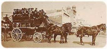 Omnibus a caballo - 1890 circa -