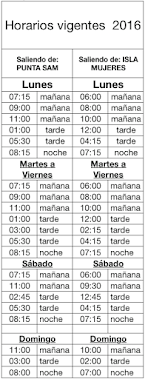Car Ferry Schedule